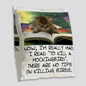 CAT - TO KILL A MOCKINGBIRD Burlap Throw Pillow