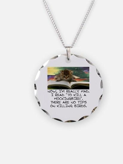CAT - TO KILL A MOCKINGBIRD Necklace Circle Charm