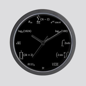 MATH EQUATION AND NOTATION CLOCK Wall Clock