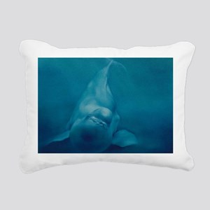 Beluga Smile Rectangular Canvas Pillow