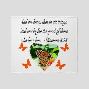 ROMANS 8:28 VERSE Throw Blanket