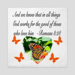 ROMANS 8:28 VERSE Queen Duvet