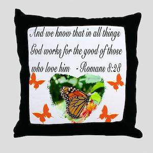 ROMANS 8:28 VERSE Throw Pillow