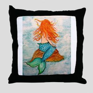 Musings of a Ginger Mermaid Throw Pillow