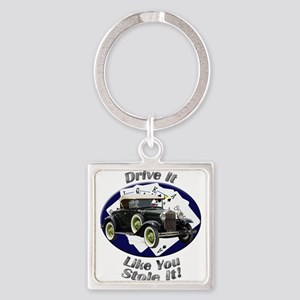 Ford Model A Square Keychain
