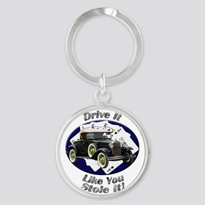 Ford Model A Round Keychain