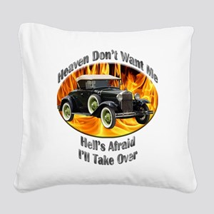 Ford Model A Square Canvas Pillow