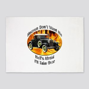 Ford Model A 5`x7`Area Rug