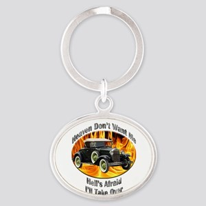 Ford Model A Oval Keychain