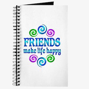Friends Make Life Happy Journal