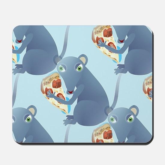 pizza rat Mousepad