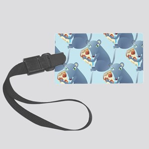 pizza rat Large Luggage Tag