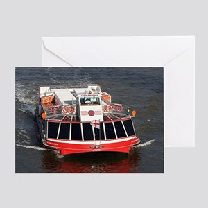 Cruise boat, River Thames, London Greeting Card