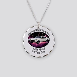 Hurst Olds Necklace Circle Charm