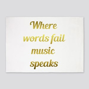 When words fail Music Speaks Inspirational Quote 5