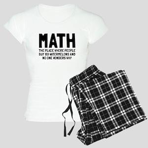 Math 80 watermelons Women's Light Pajamas