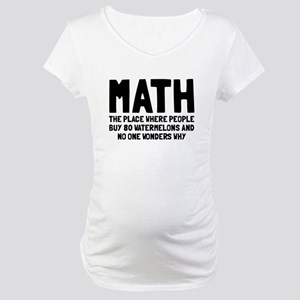 Math 80 watermelons Maternity T-Shirt
