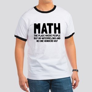 Math 80 watermelons Ringer T
