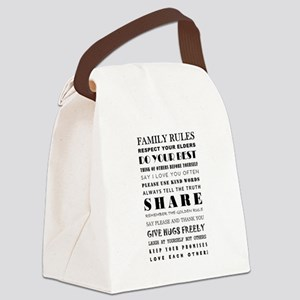 FAMILY RULES Canvas Lunch Bag