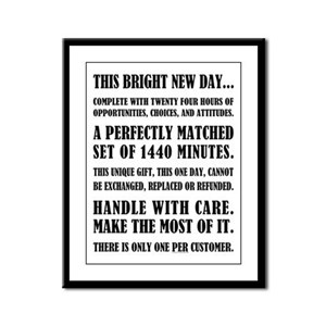 THIS BRIGHT NEW DAY Framed Panel Print
