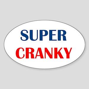 SUPER CRANKY Oval Sticker