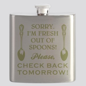 FRESH OUT OF SPOONS Flask
