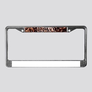 I Love Coffee, Coffee Beans License Plate Frame