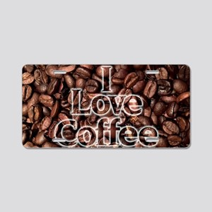 I Love Coffee, Coffee Beans Aluminum License Plate