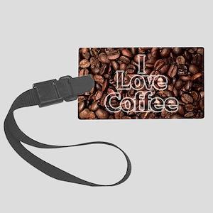 I Love Coffee, Coffee Beans Large Luggage Tag