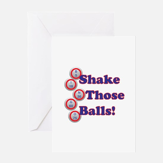 Bingo Shake Greeting Cards
