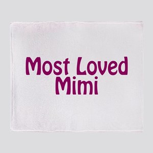 Most Loved Mimi Throw Blanket