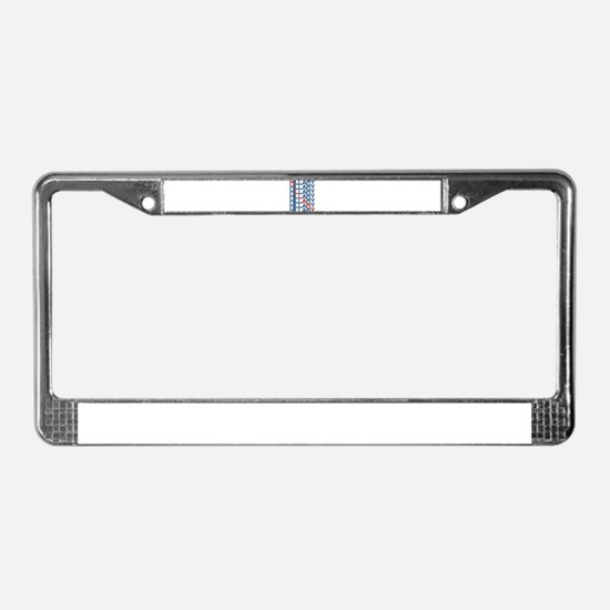 hillary clinton text stacks License Plate Frame