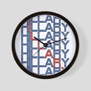 hillary clinton text stacks Wall Clock