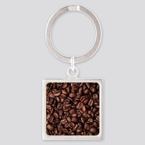 Coffee Beans Square Keychain