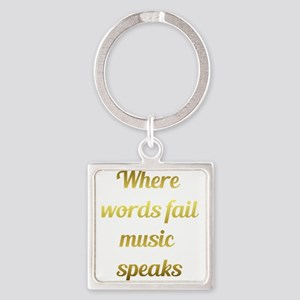 When words fail Music Speaks Inspirational Quote K