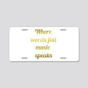 When words fail Music Speaks Inspirational Quote A