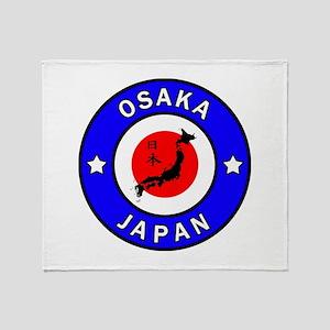 Osaka Japan Throw Blanket