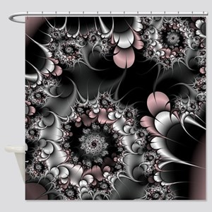 Widow's Web Fractal Shower Curtain