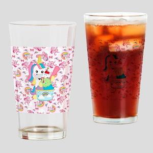 Unicorn Loves Ice Cream Drinking Glass