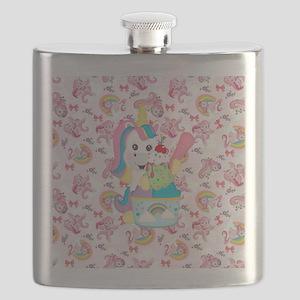 Unicorn Loves Ice Cream Flask