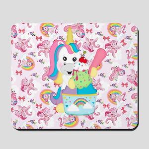 Unicorn Loves Ice Cream Mousepad