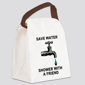 Shower With Friend Canvas Lunch Bag