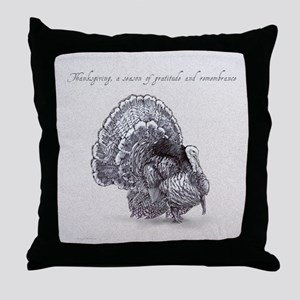 Thanksgiving Tom Turkey Throw Pillow