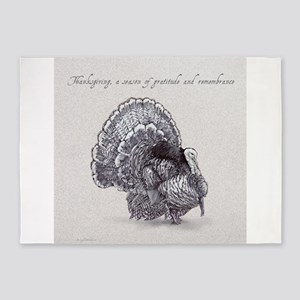 Thanksgiving Tom Turkey 5'x7'Area Rug