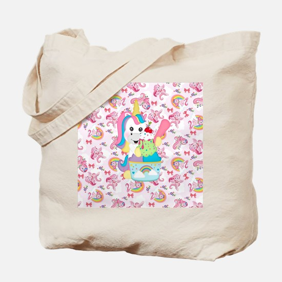 Unicorn Loves Ice Cream Tote Bag