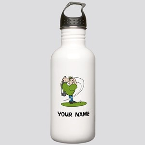 Cartoon Golfer Water Bottle