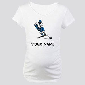 Hockey Player Maternity T-Shirt