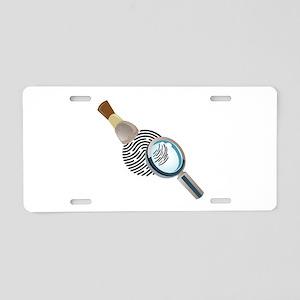 Fingerprint Aluminum License Plate