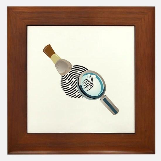 Fingerprint Framed Tile