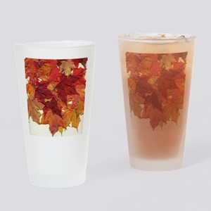 Fall Sugar Maple Leaves Drinking Glass